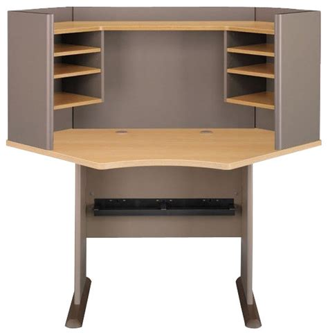 Wood Corner Desk With Hutch by Bush Series A 42 Quot Wood Corner Computer Desk With Hutch In
