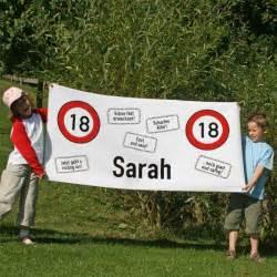 dekoration zum 18 geburtstag banner zum 18 geburtstag