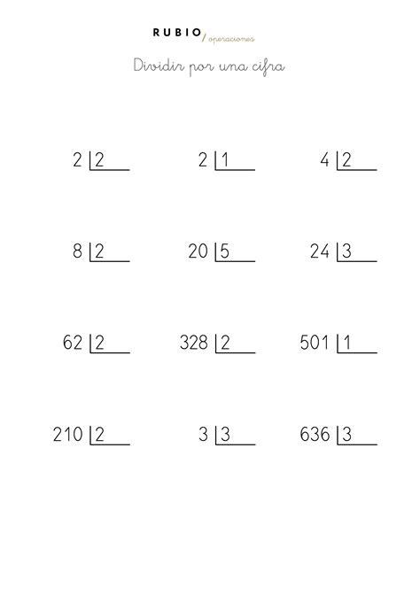 hojas de ejercicios de divisiones para imprimir fichas de divisiones de una cifra para imprimir de 4 186