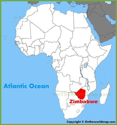 printable map of zimbabwe in africa zimbabwe location on the africa map