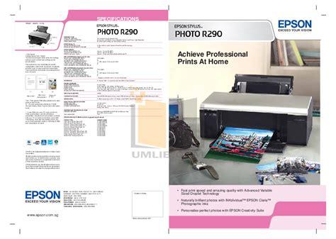Printer Epson R290 pdf manual for epson printer stylus photo r290