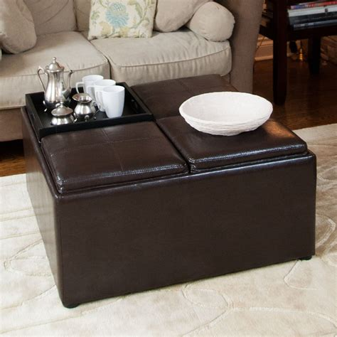 square ottoman coffee table square storage ottoman coffee table loccie better homes