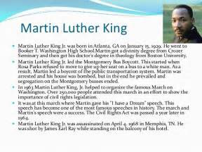 Dr Martin Luther King Jr Biography Essay by Biography Of