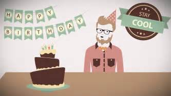 hipster happy birthday animated video greetings on vimeo