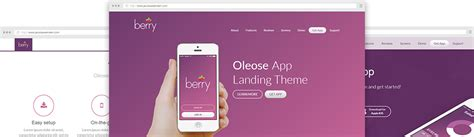bootstrap themes oleose oleose app landing page bootstrap theme