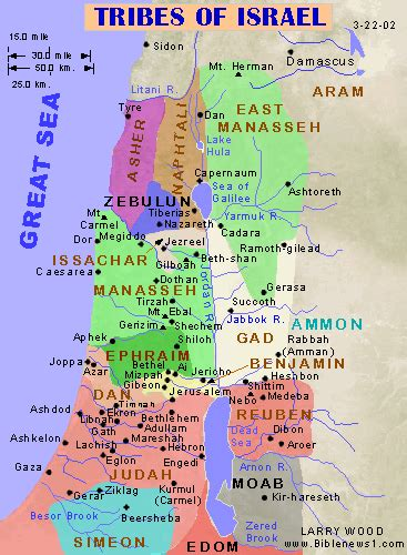 biblical map of israel bible maps of 12 tribes of israel divided kingdom 931bc