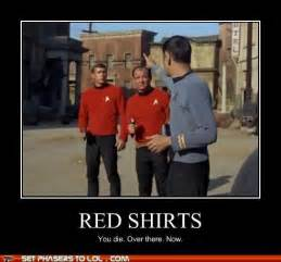 Star Trek Red Shirt Meme - star trek the old gray cat