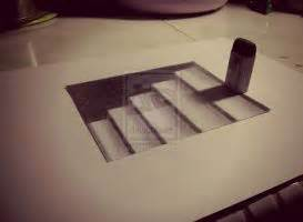 How To Draw 3d Stairs On Paper by How To Draw 3d Drawings On Paper Step By Step