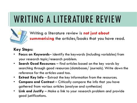 writing  literature review  quick guide