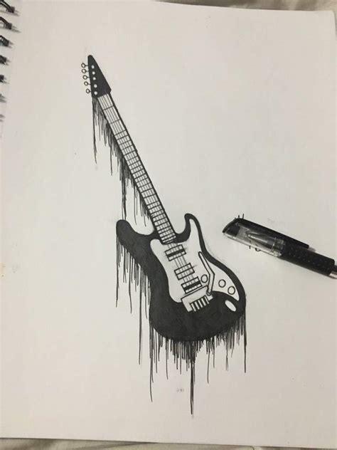 3d Guitar Drawing