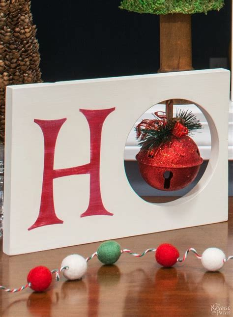 wooden christmas craft centerpieces ho ho ho decor the navage patch