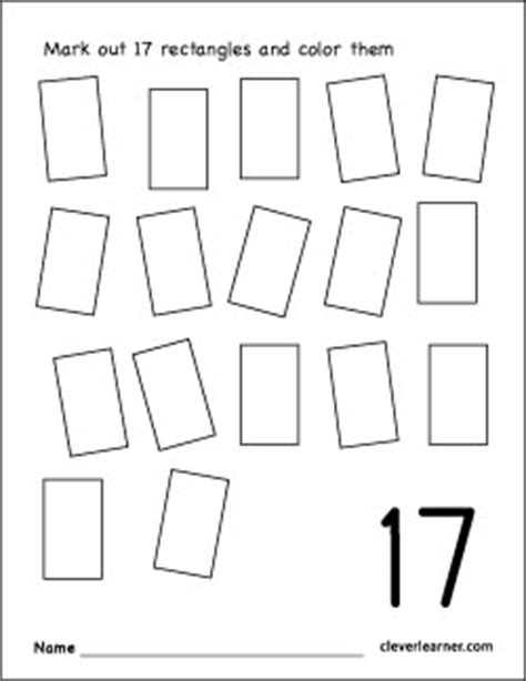 Coloring Number 17 Preschool Worksheets Coloring Best - coloring number 17 preschool worksheets coloring best