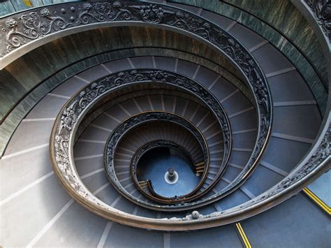 famous stairs inside vatican city and the renaissance architecture of