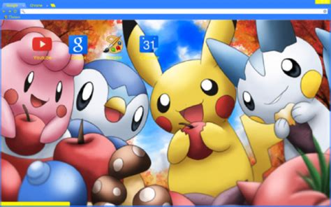 chrome theme pikachu amazing anime browser themes for chrome firefox and ie