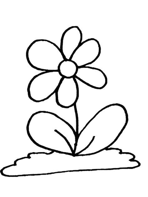 gambar mewarnai bunga  anak paud  tk