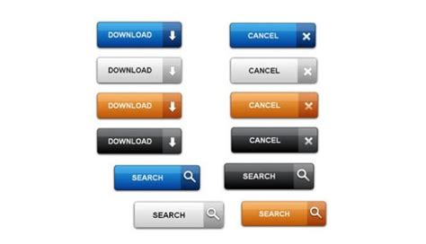 12 modern stylish css3 buttons web graphic design clean modern css web ui buttons set welovesolo