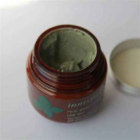 Innisfree Real Peppermint Mask 10gr innisfree real peppermint mask review makeupandbeauty