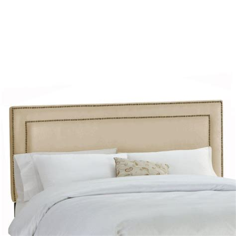 Upholstered Headboard King Skyline Furniture Upholstered California King Headboard In Premier Microsuede Oatmeal The Home