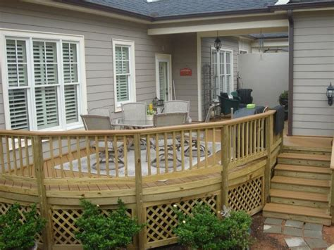 patio designs for small spaces wooden decks for front hot tub patio plans small wood deck with railing deck
