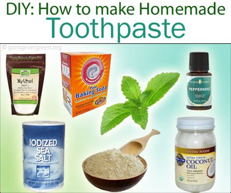 How To Make A Handmade - diy how to make toothpaste going evergreen
