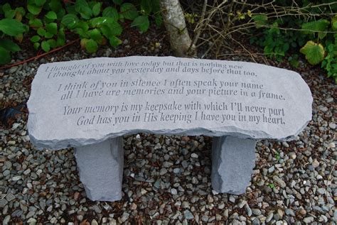 memorial garden benches stone garden memorial bench stone bench thoughts special