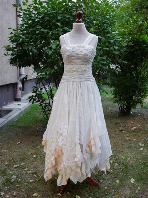 shabby chic clothing upcycled wedding dress tattered dress