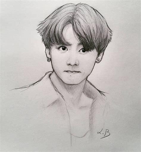 V Drawing Bts by Jungkook Jeonjungkook Jk Kookie Bangtan Bts