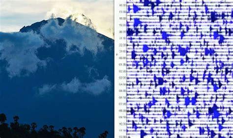 earthquake agung bali volcano watch live mount agung latest seismograph