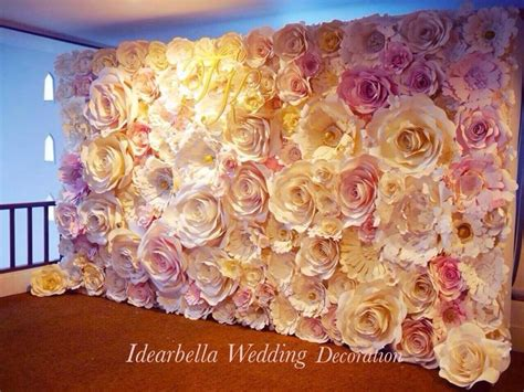 How To Make Paper Flower Backdrop - pink wedding paper flowers backdrop paper backdrop