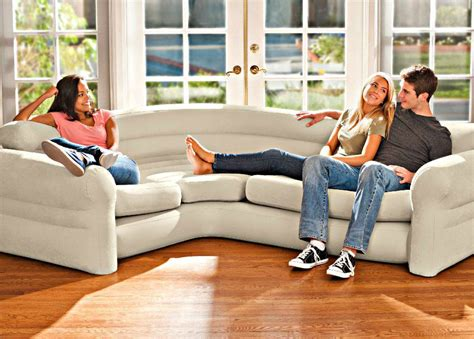 inflatable sectional couch inflatable corner sofa sectional intex contemporary living
