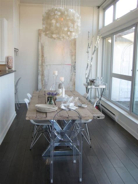 Design Acrylic Dining Chairs Ideas Remodelaholic Decorating With Style Rustic Glam