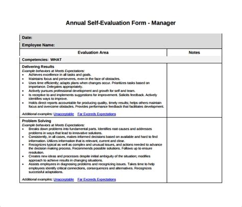 7 Manager Evaluation Sles Sle Templates Management Evaluation Form Template