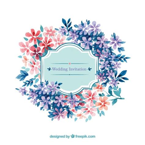 stylish printables watercolor clipart wedding stationery watercolor wedding invitation in floral style vector