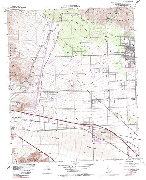 springs in southern california map desert springs topographic map ca usgs topo