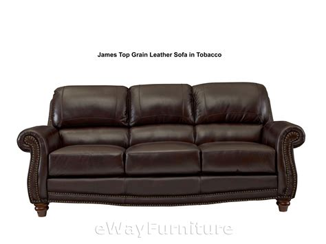 top grain leather sofa in tobacco lis9922sf
