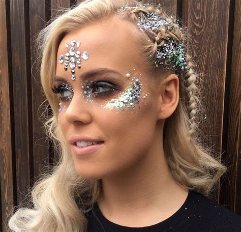silver jewels alice silver glitter and jewels festival makeup and glitter