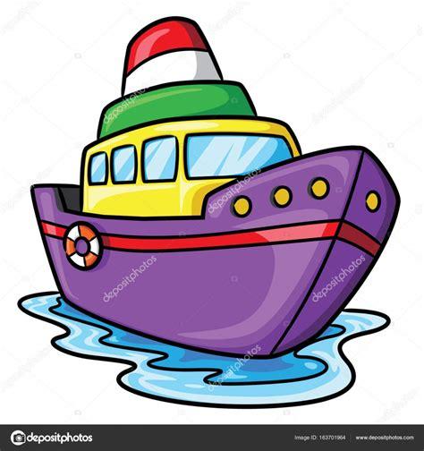 imagenes de barcos animados dibujos animados lindo barco vector de stock