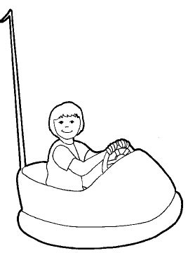 bumper cars coloring pages how to draw bumper cars