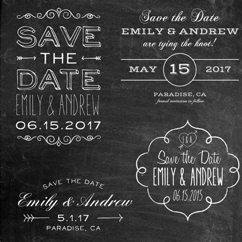 this set of four save the date overlays are beautiful and