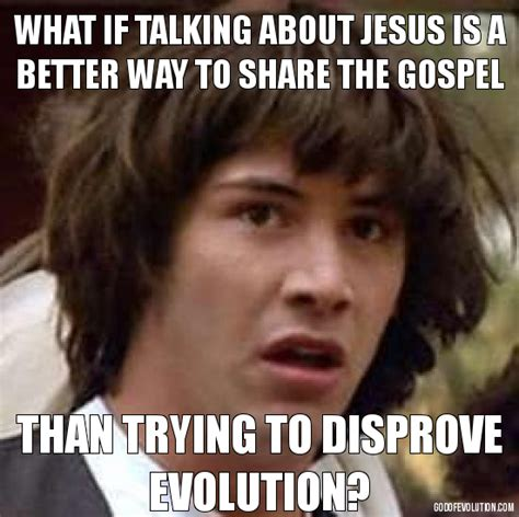 Keanu Reaves Meme - a meme about keanu reeves god of evolution
