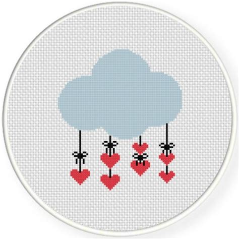heart pattern for cross stitch heart cloud cross stitch pattern daily cross stitch