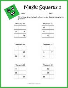multiplication magic squares worksheets magic squares