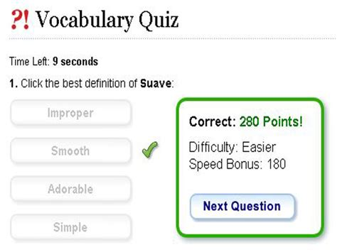 Vocabulary Quiz English Guide Org