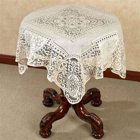 square table toppers canterbury classic lace table topper