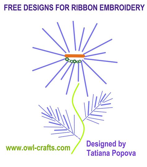 Embroidery Templates Free by Ribbon Embroidery Designs To