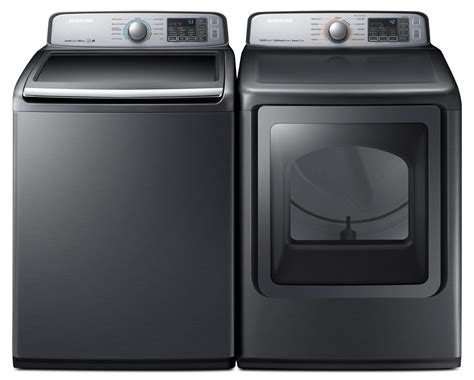 samsung 5 8 cu ft top load washer and 7 4 cu ft multi steam electric dryer the brick