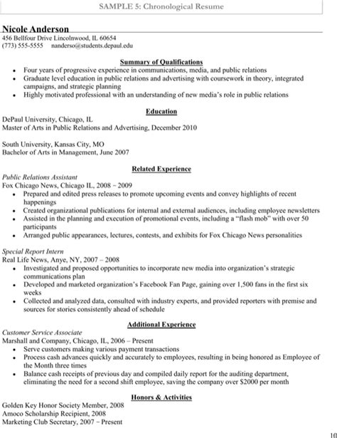 sle chronological resume for administrative assistant chronological entry level administrative assistant resume sle for free page 10