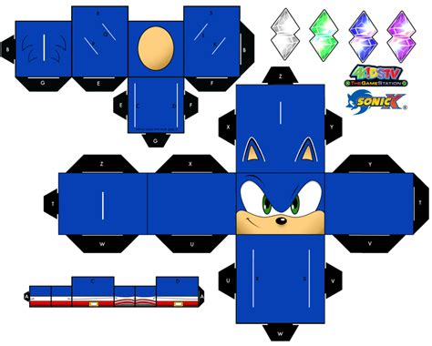 sonic the hedgehog papercraft page 1 by xchosenone1 on