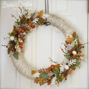 lauren s creative fall leaf wreath