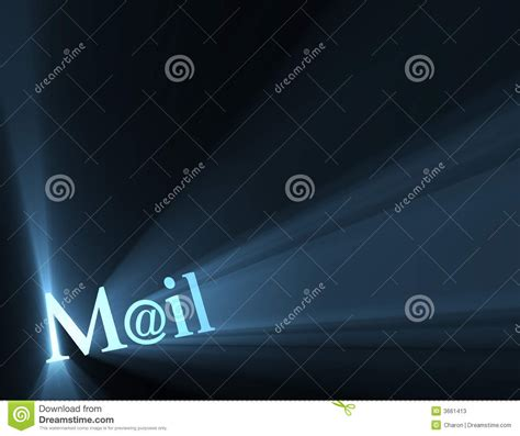 symbolic meaning of light mail at email symbol light flare stock photos image 3661413